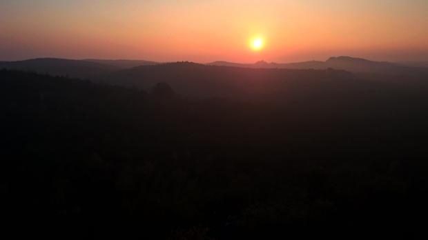 Wczorajszy zachód słońca uchwycony telefonem